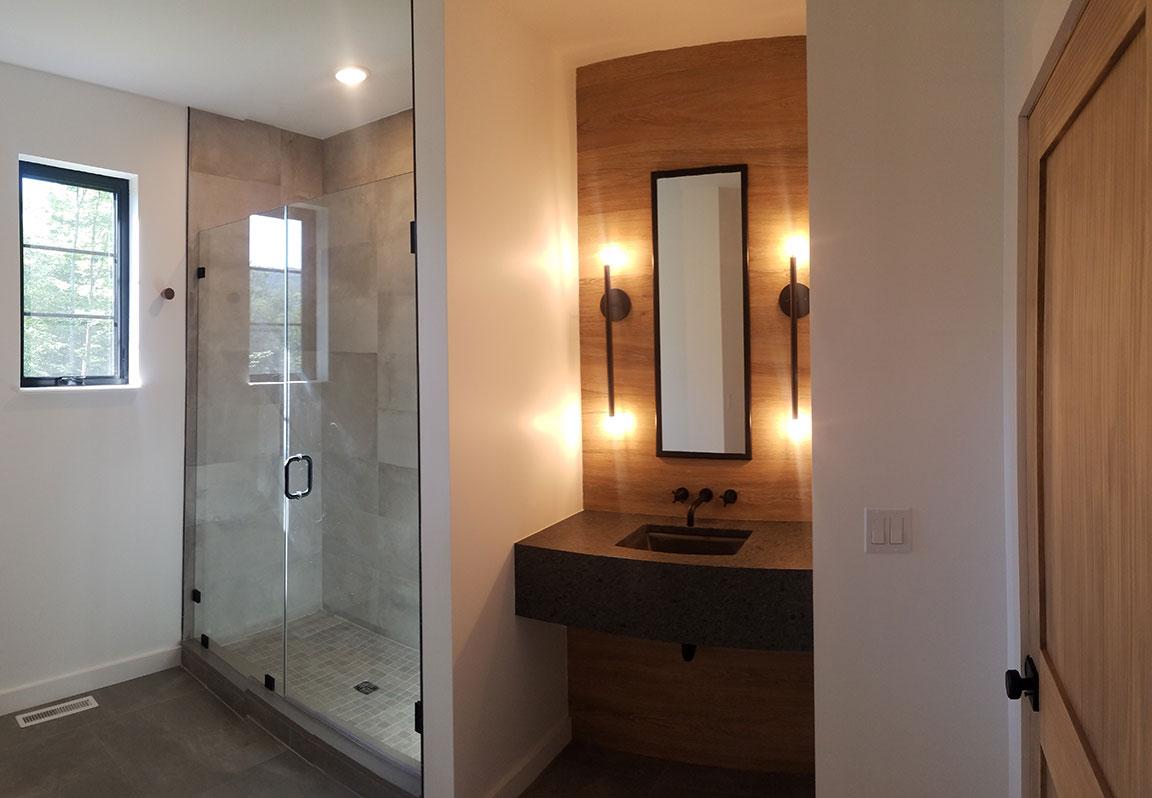 Bathroom: Vanity & Shower
