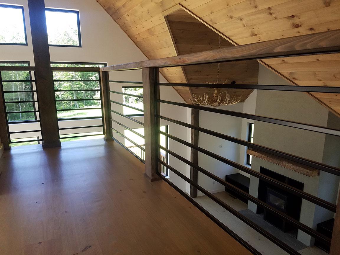 2nd Floor: Looking toward the windows