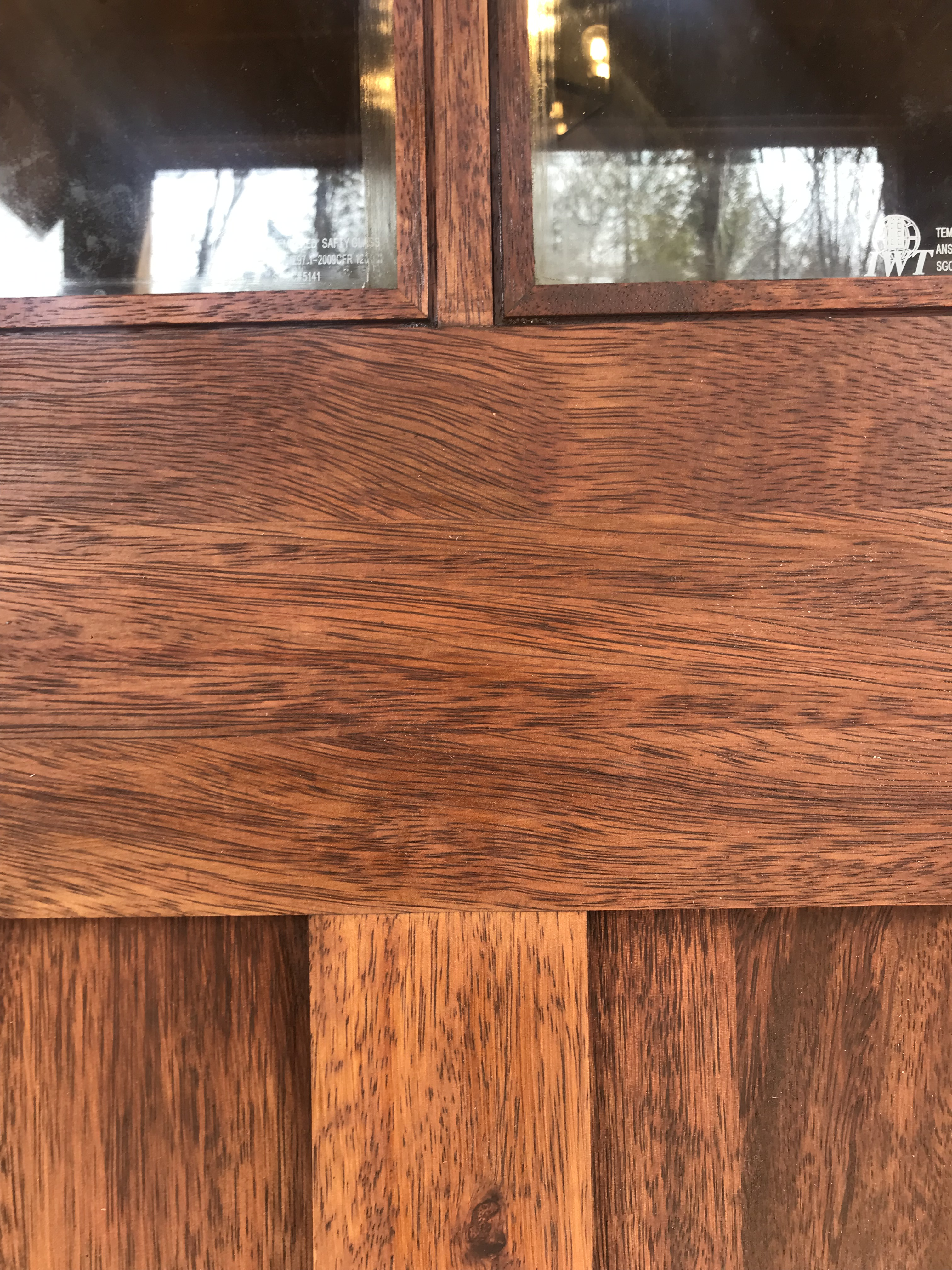 Front Door: Up close at the wood