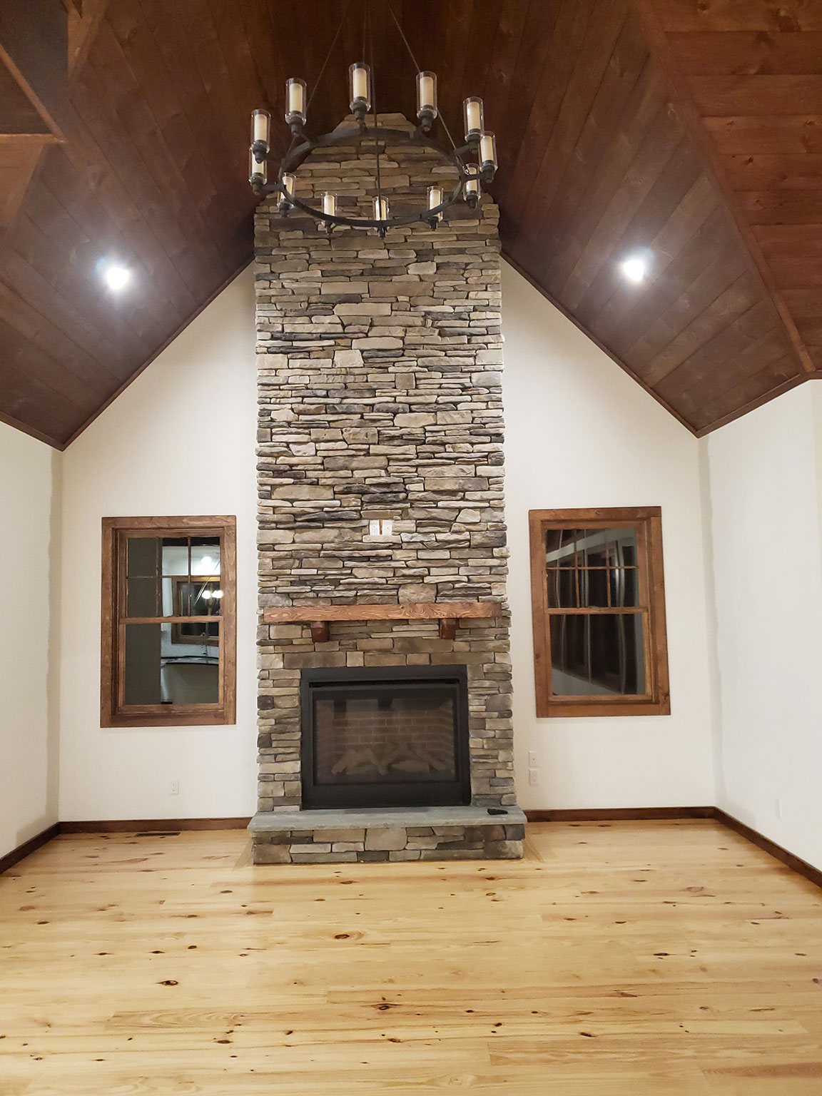 Fireplace on the first floor